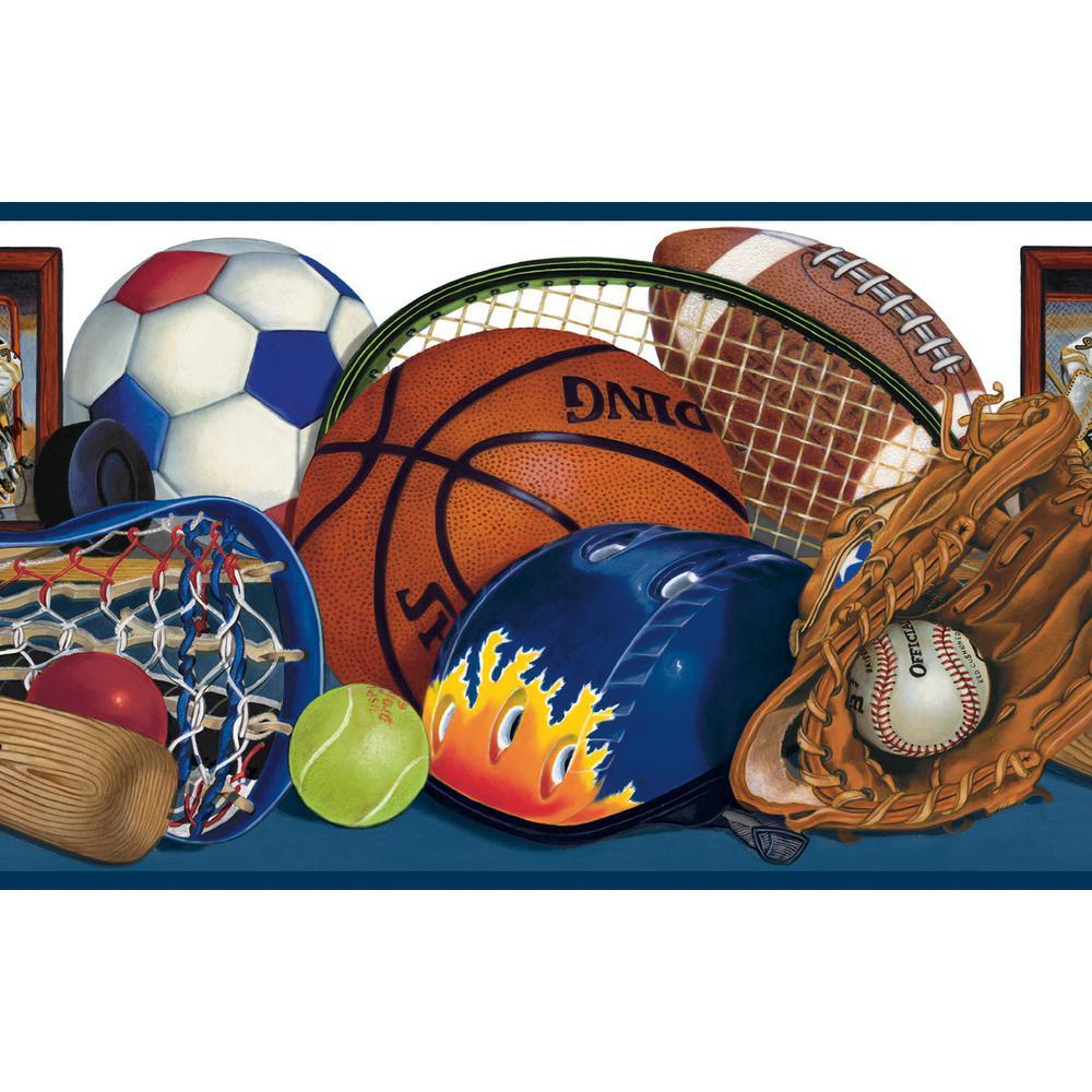 Chesapeake Doug Blue Sports Portrait Wallpaper Border Sample 1000x1000