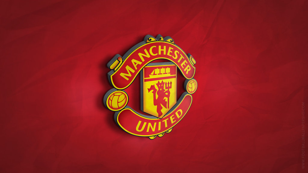 Manchester United 3D Logo Wallpaper by FBWallpapersHD on 1024x576