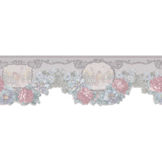 Light Grey Floral Border   Tools   Painting Supplies   Wallpaper 1800x1800