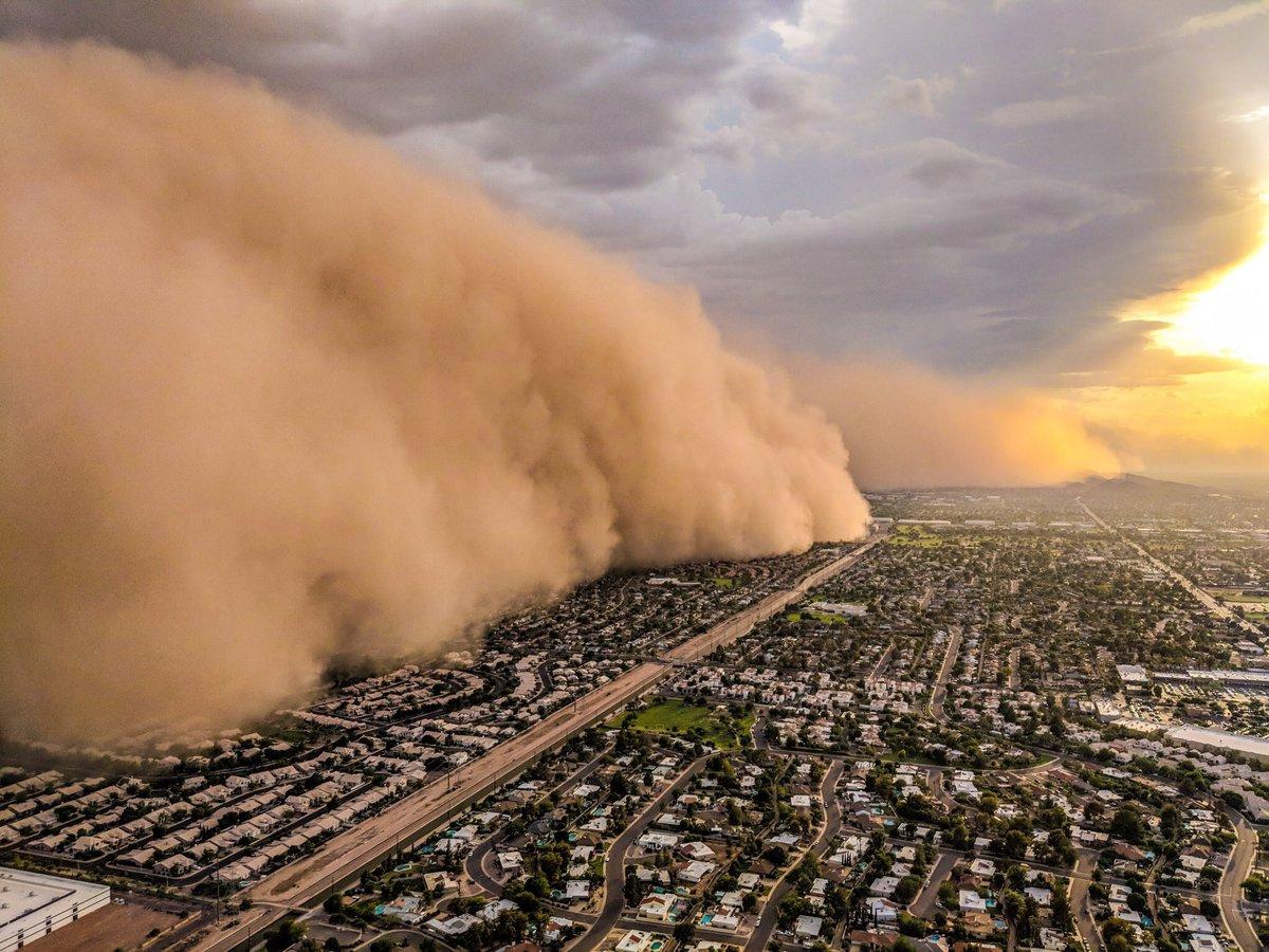 James Van Fleet on Twitter Phoenix dust storm called a Haboob 1200x900