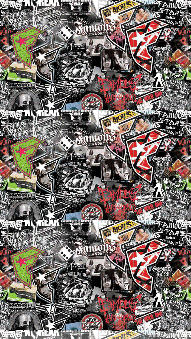 Famous Collage Logos iPhone Wallpaper 640x1136