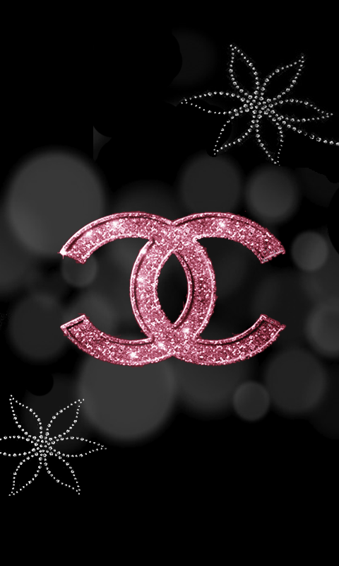 Pink Chanel Wallpaper Pink and silver hello kitty 480x800