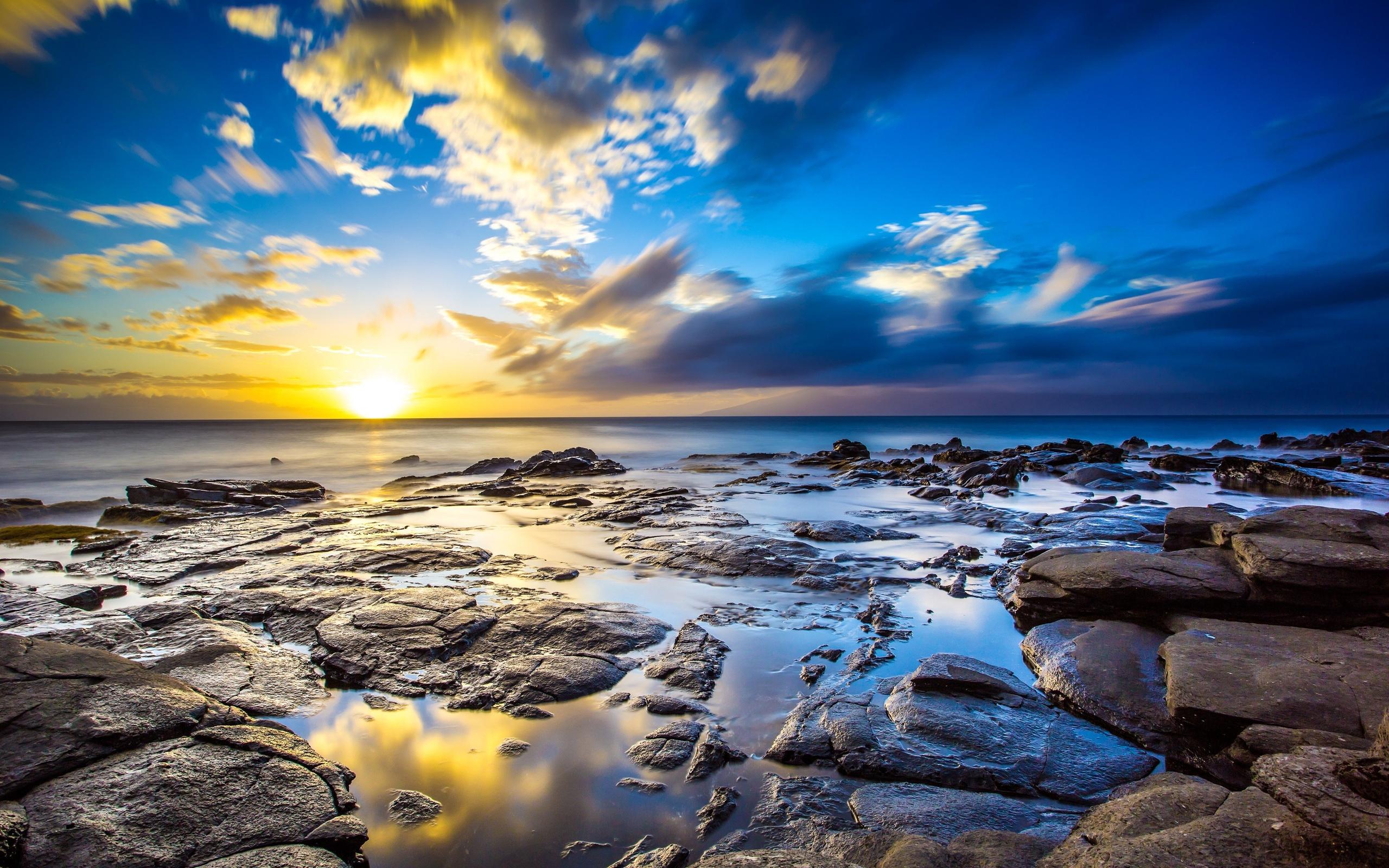 Sunrise Ocean 4K Ultra HD wallpaper 4k WallpaperNet 2560x1600