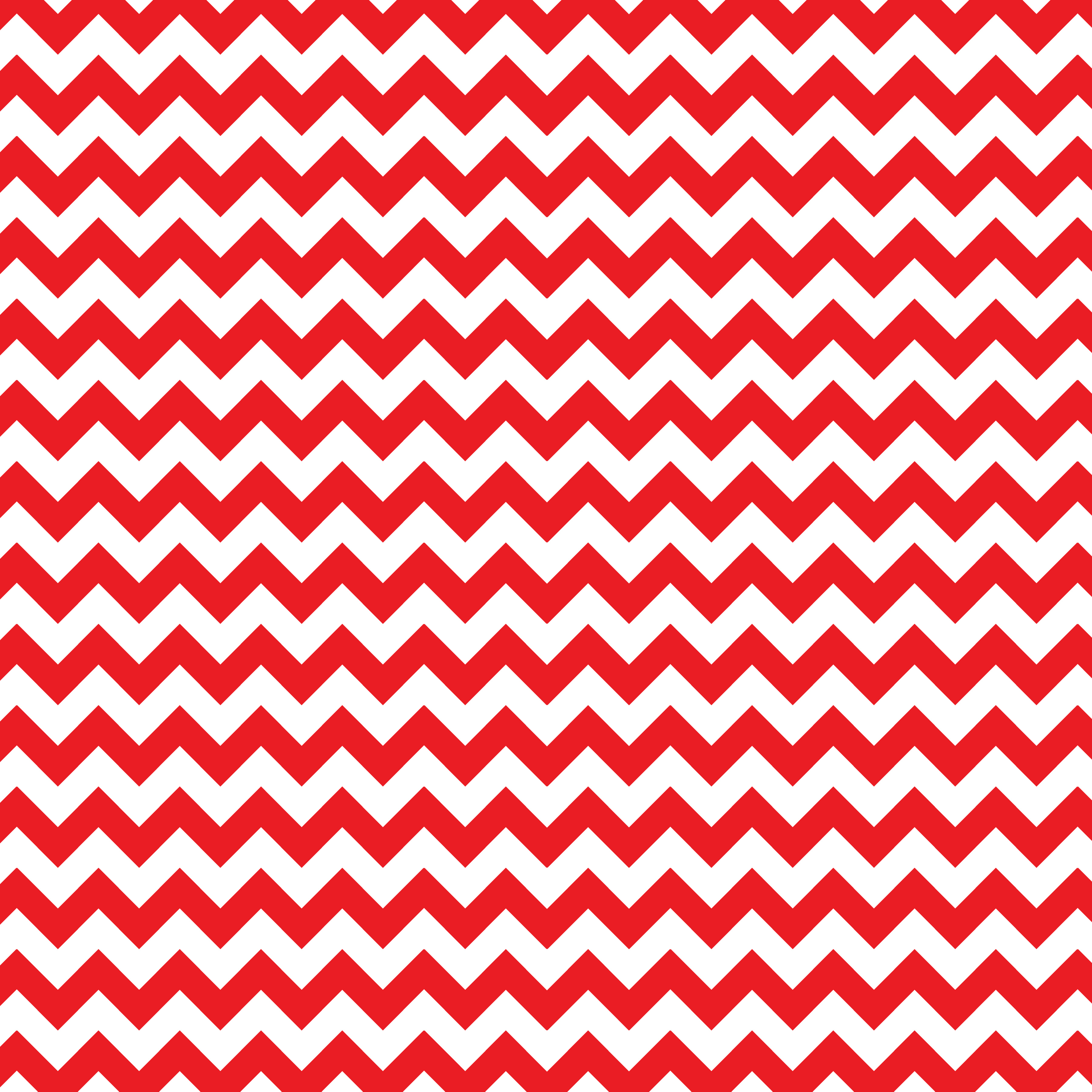 Red and White Chevron 3600x3600