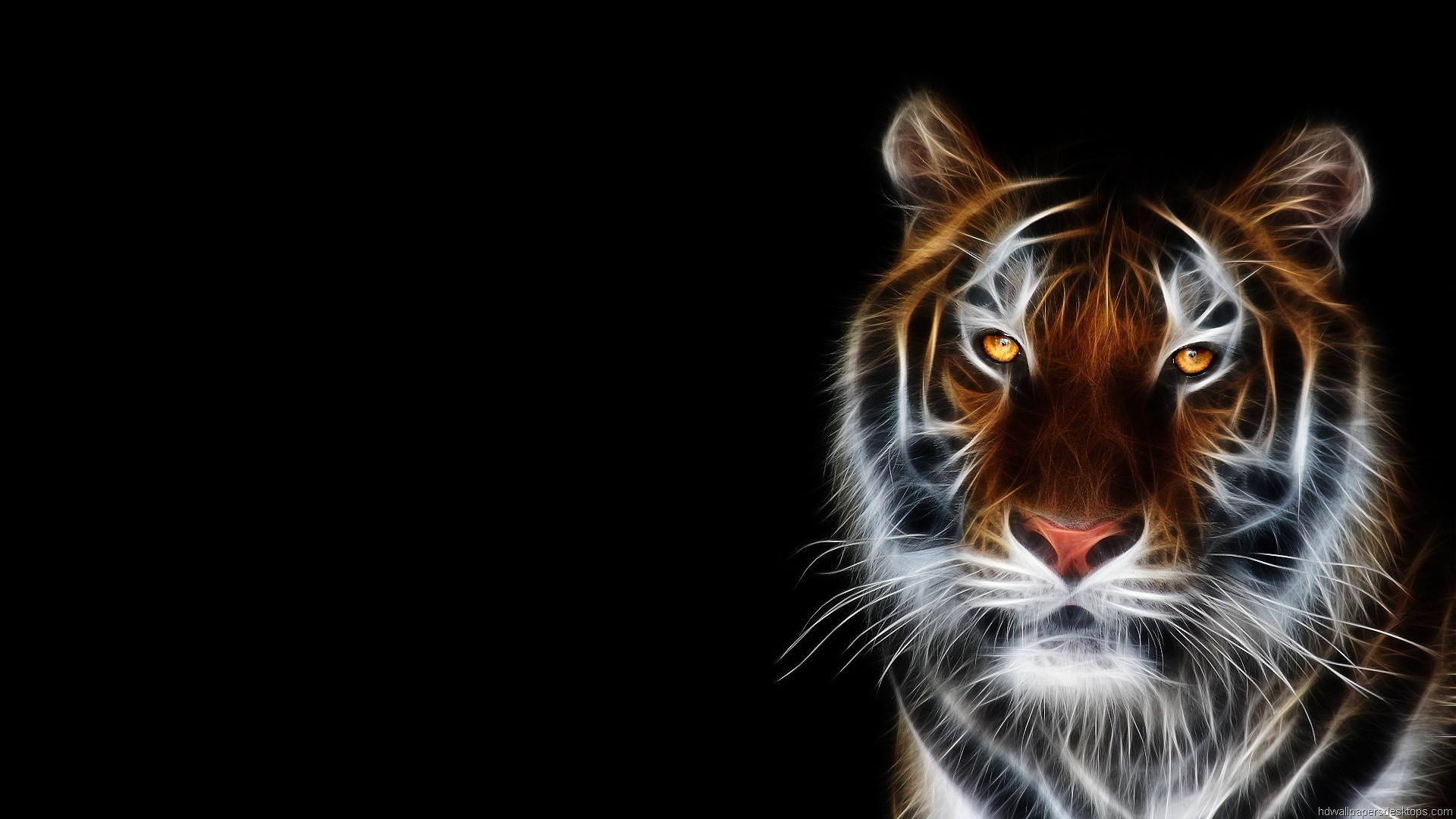 Creepy Tiger Wallpaper