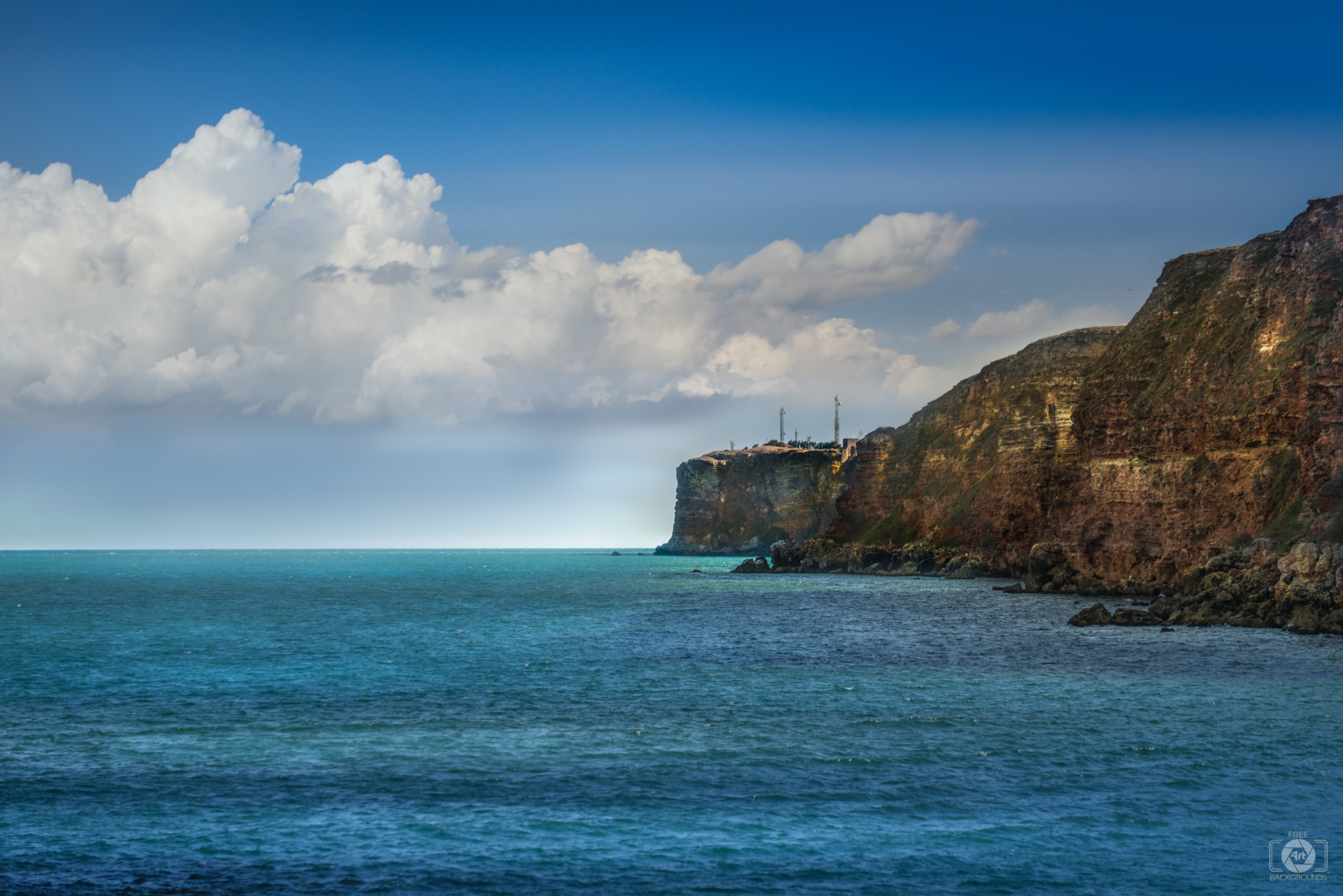 Seascape and Cliff Background   High quality Backgrounds 1920x1281