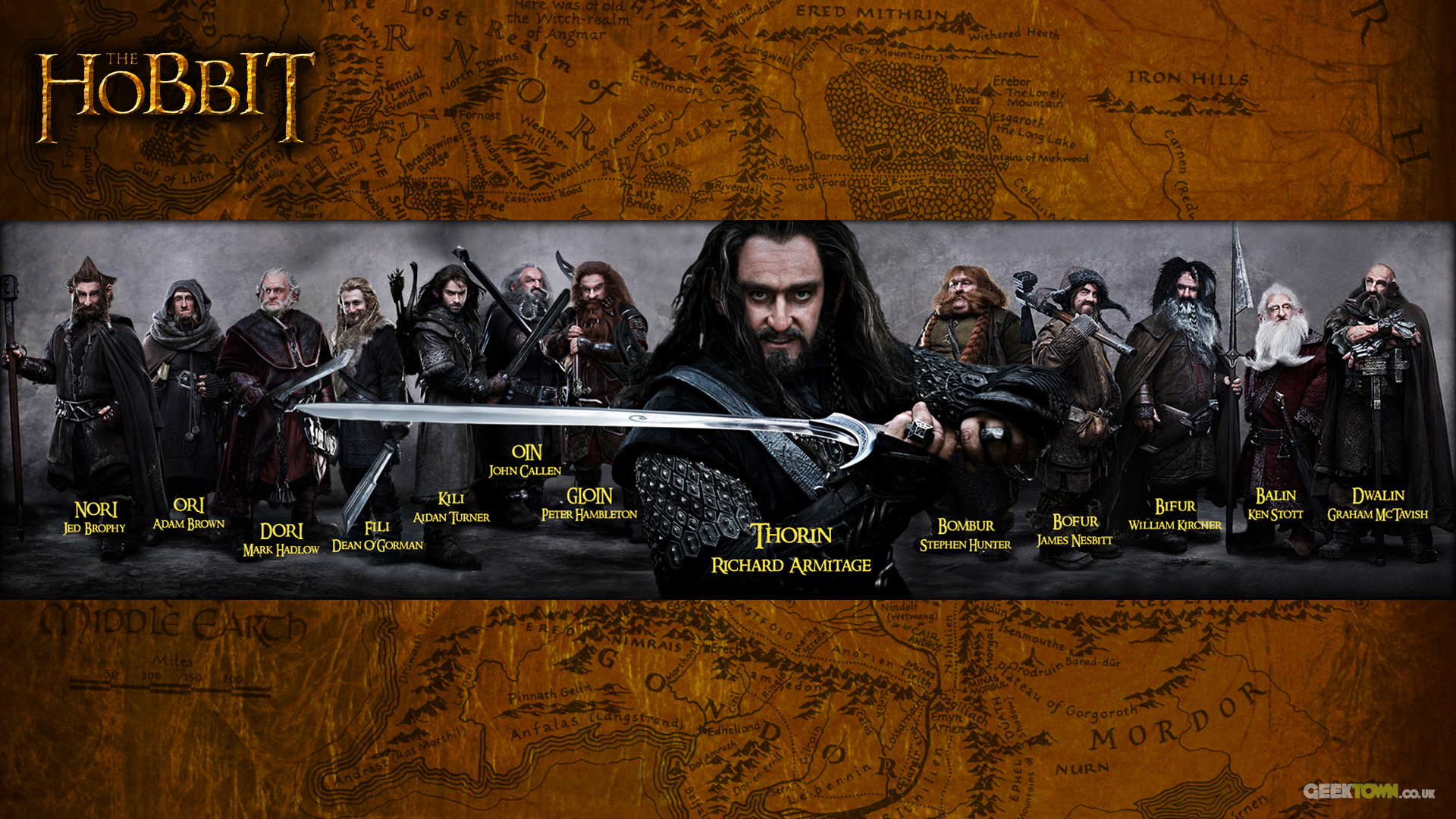 The Hobbit 13 dwarves desktop wallpaper 1920x1080
