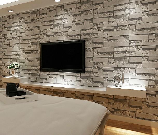 brick 3d stone wallpaper modern wallcovering pvc roll wallpaper 609x519