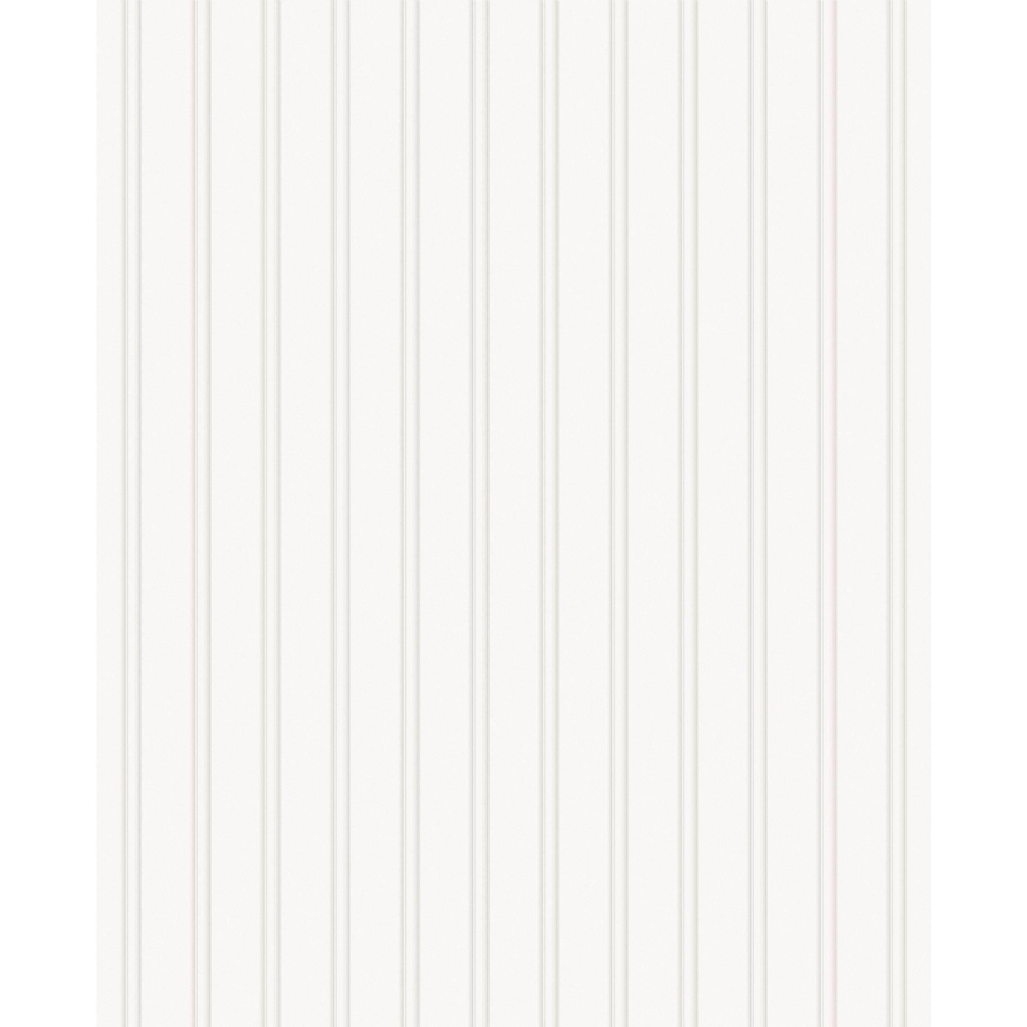 Paintable Prepasted Paintable Beadboard Wallpaper in White   15274 2000x2000