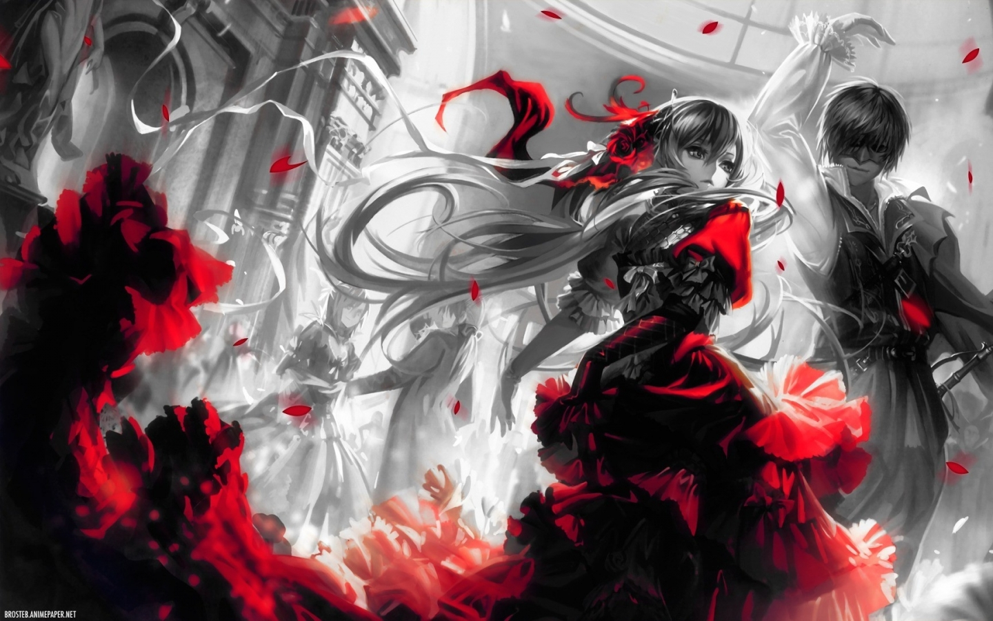 40 Red And Black Anime Wallpaper On Wallpapersafari