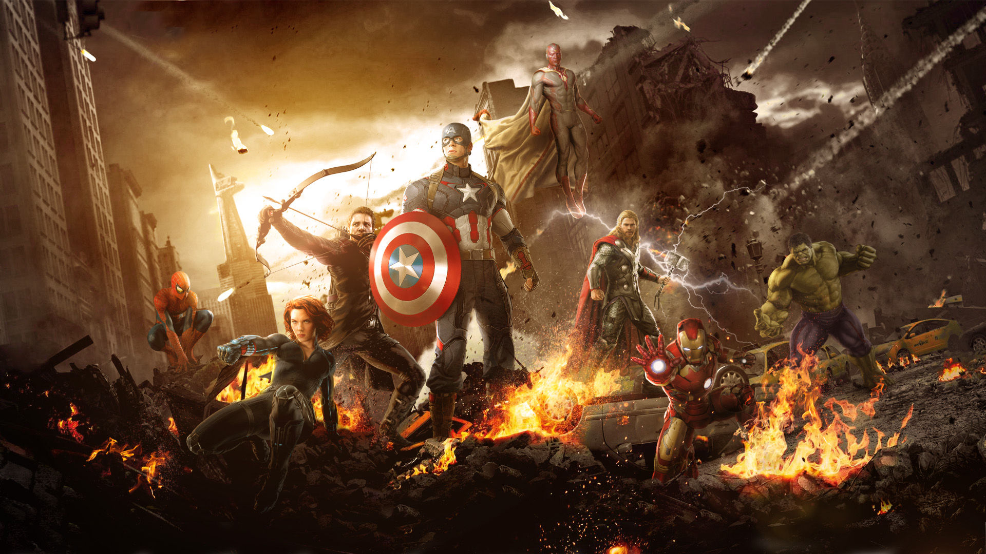 Avengers 2 Age of Ultron Wallpaper Feat Spider Man by 1920x1080