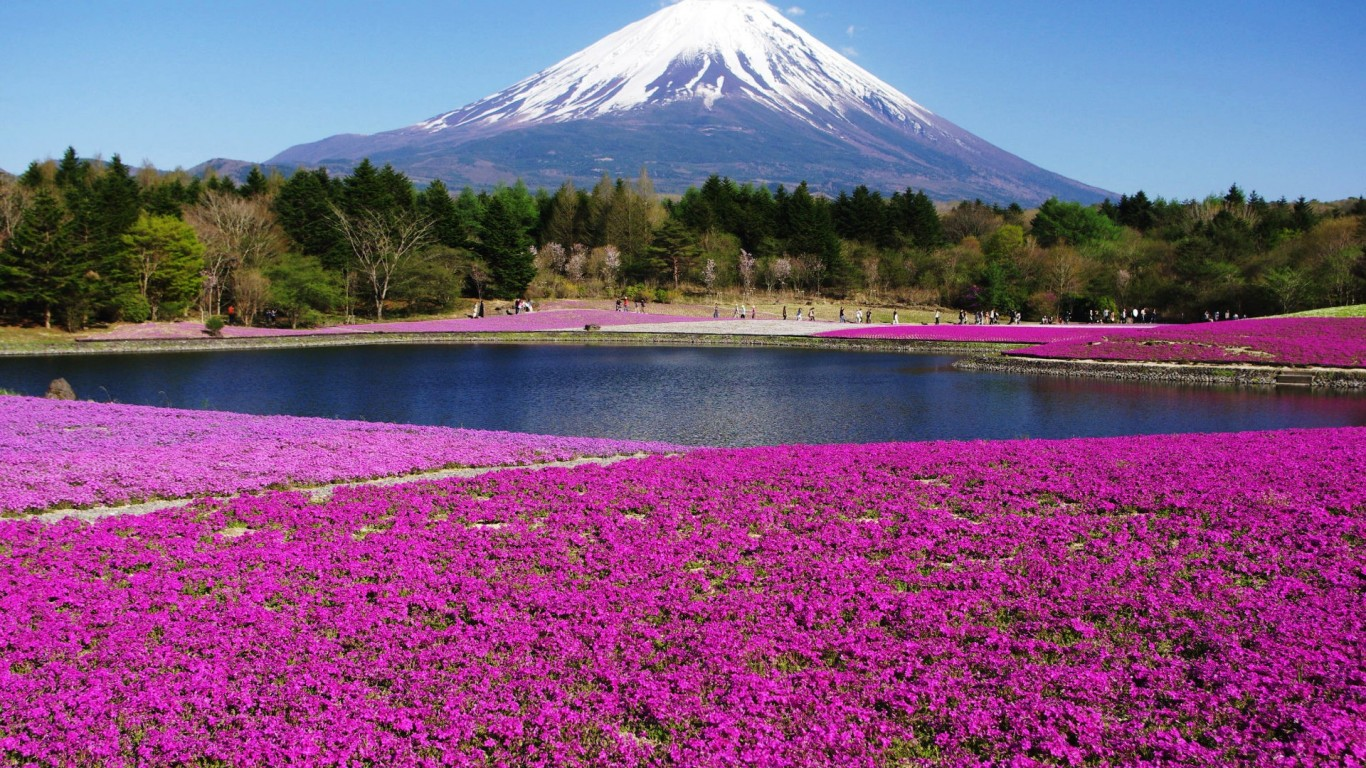Mount Fuji Spring Wallpaper Travel HD Wallpapers 1366x768