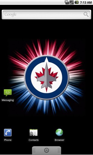 View bigger   Winnipeg Jets Live Wallpaper for Android screenshot 307x512