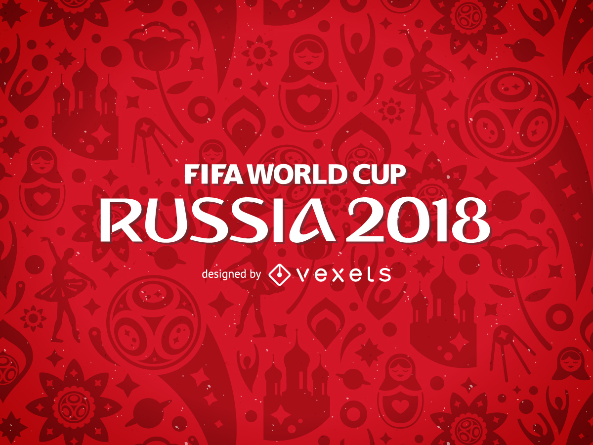 Free download Russia 2018 FIFA World Cup pattern Vector