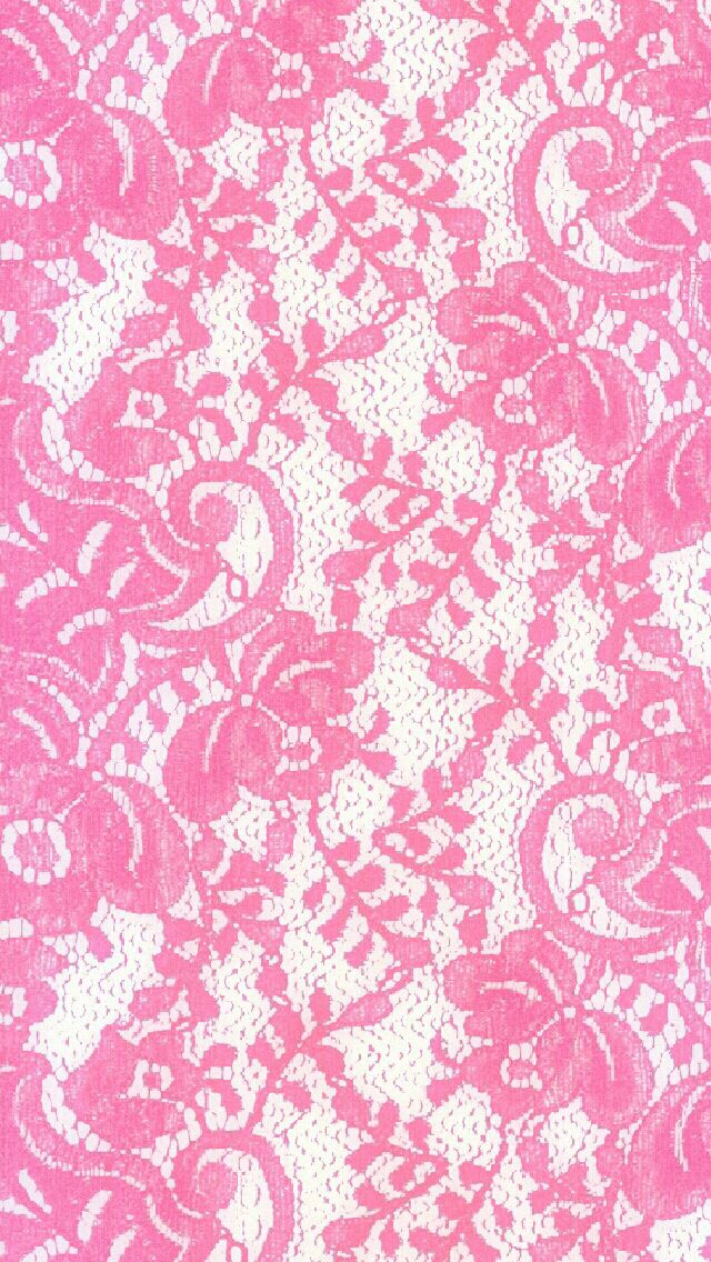 Bright Pink Lace iPhone Wallpaper Color   Glitter 640x1136