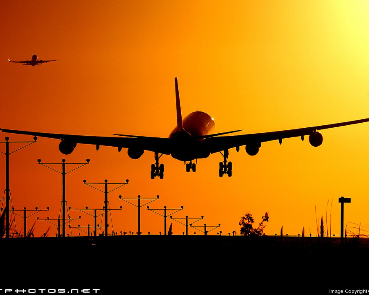 airliners sunset take off vehicles wallpaper HQ WALLPAPER   181435 1280x1024