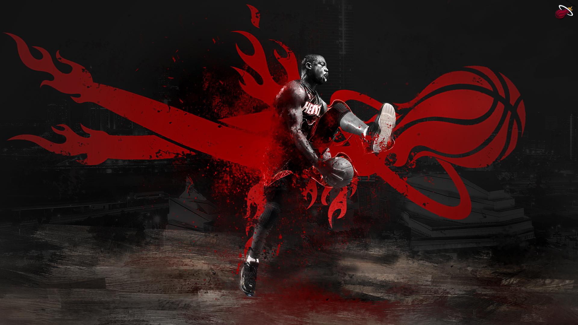 Dwyane Wade 2014 Miami Heat NBA Wallpaper 1920x1080