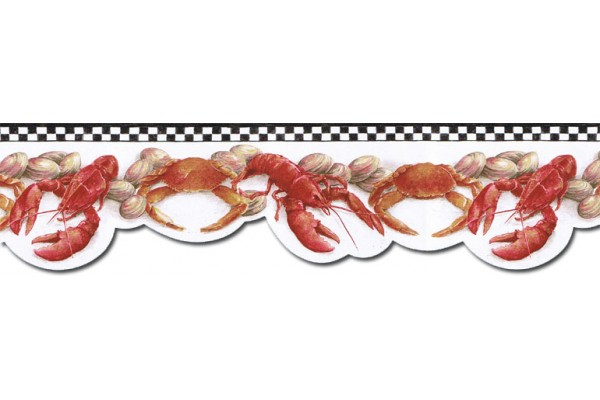 Home Crab Wallpaper Border BH89025DB 600x400