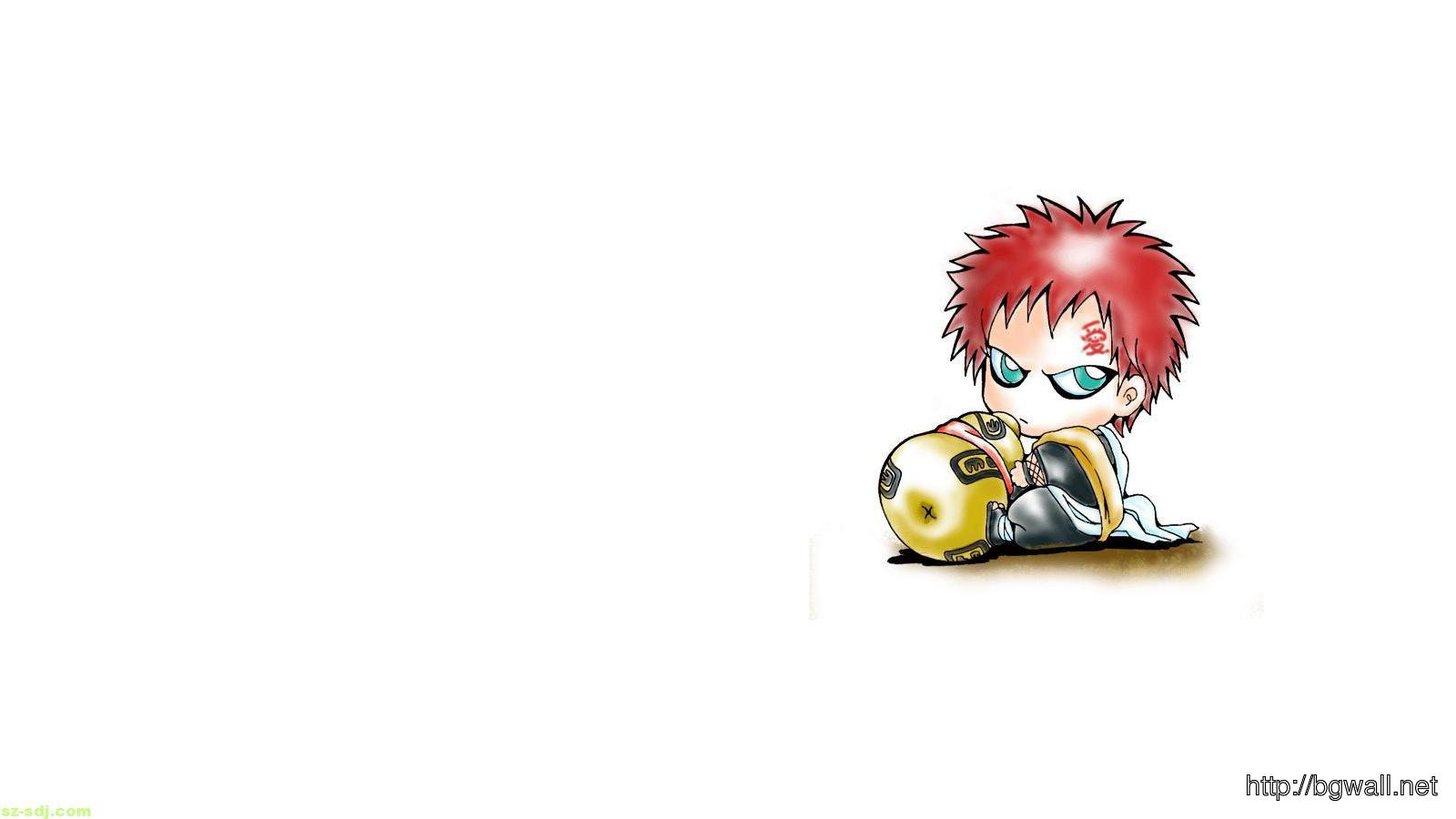 Gaara Chibi Anime Wallpaper Background Wallpaper HD 1600x900