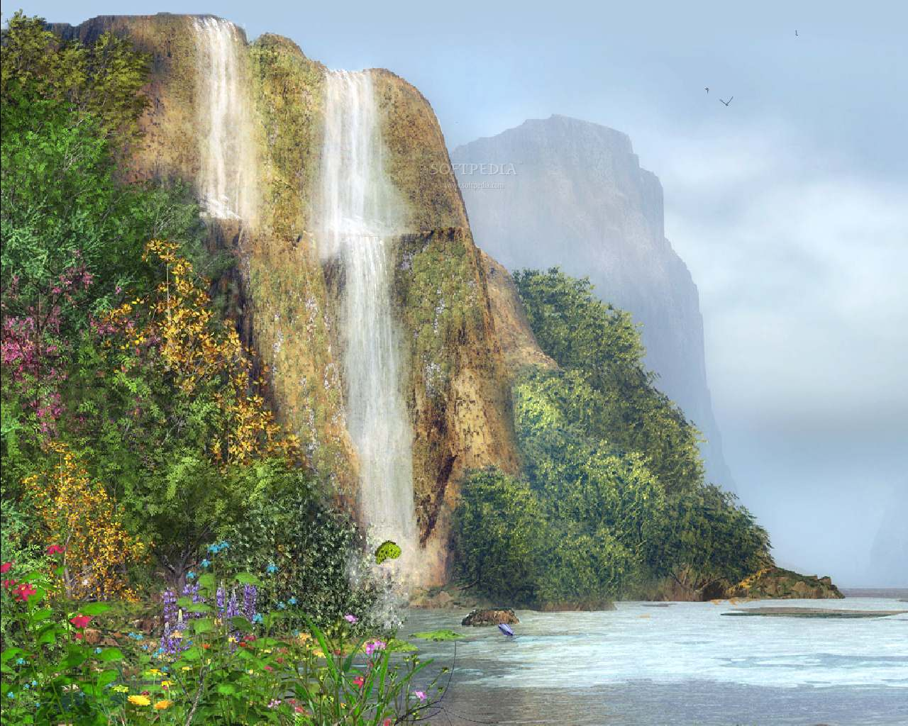 The word cartoon animated waterfall screensaver 1280x1024