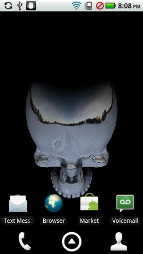 3D Moving Skull Live Wallpaper App for Android 288x512