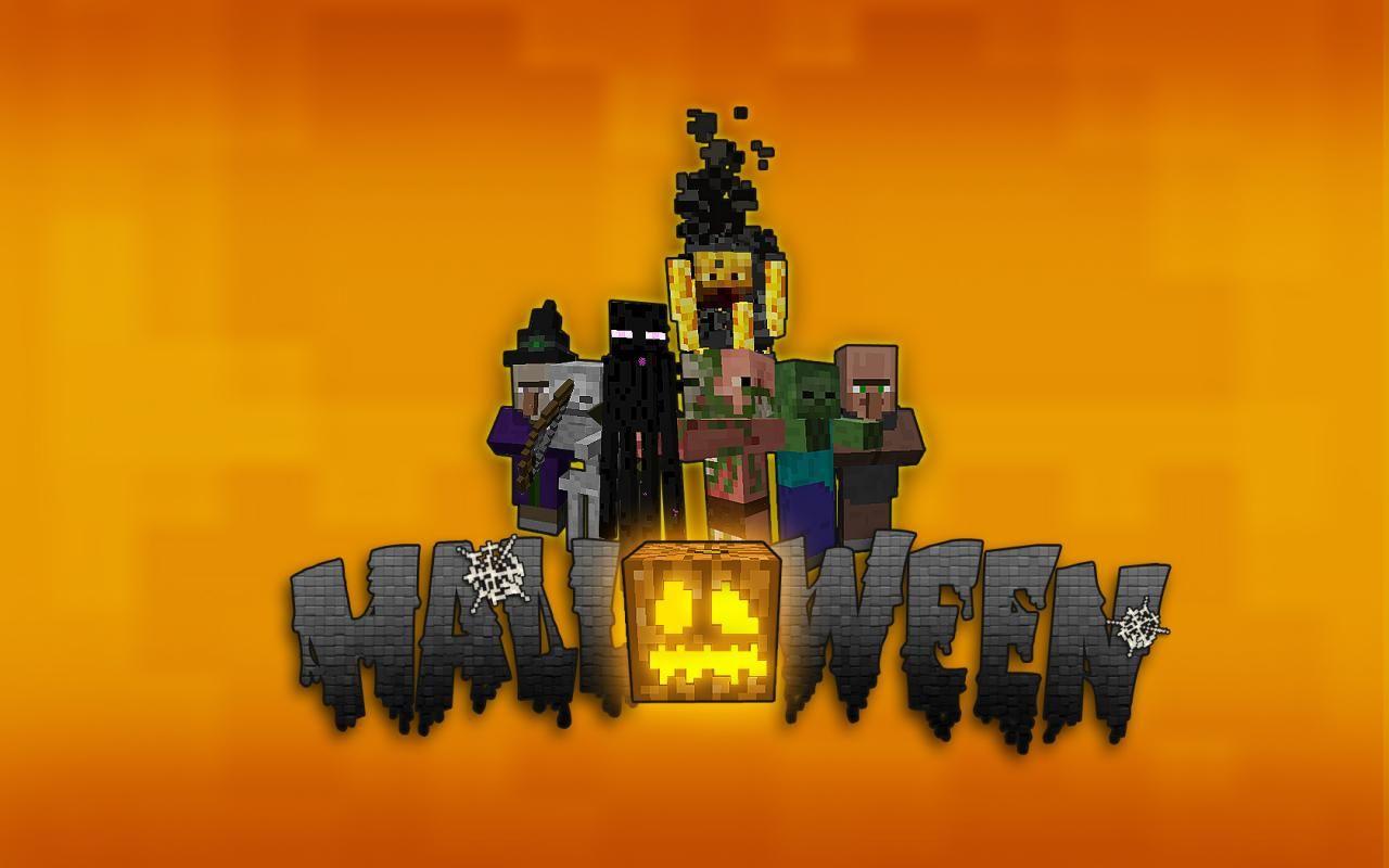 Image result for minecraft halloween wallpaper Halloween 1280x800