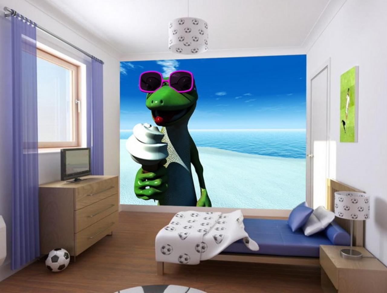 Blue kids bedroom wallpaper best bedroom designs gallery 1280x972