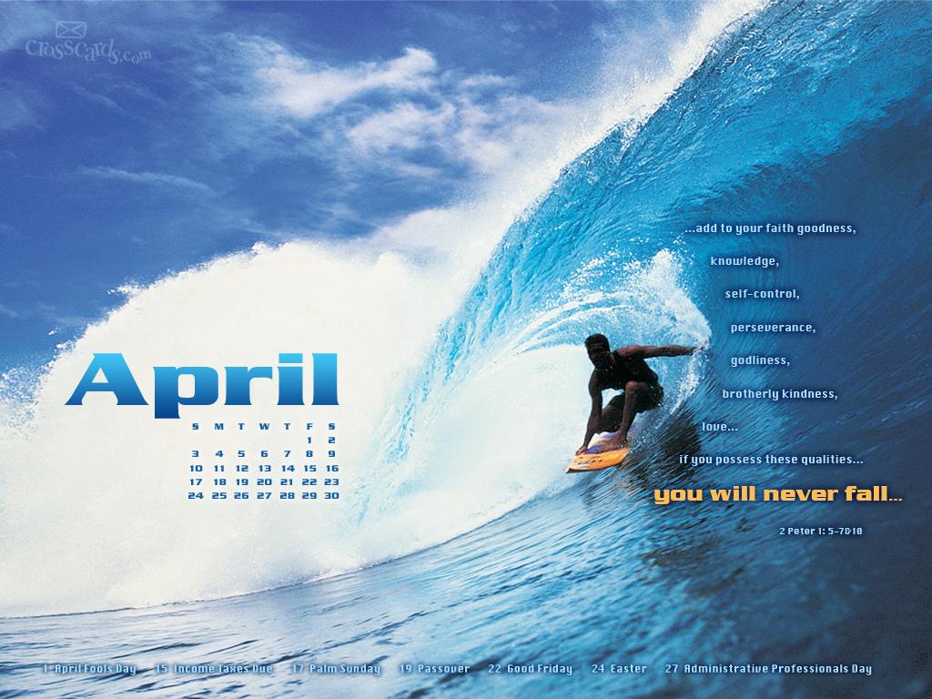 CrossCards Calendar Wallpaper Desktop 1024x768