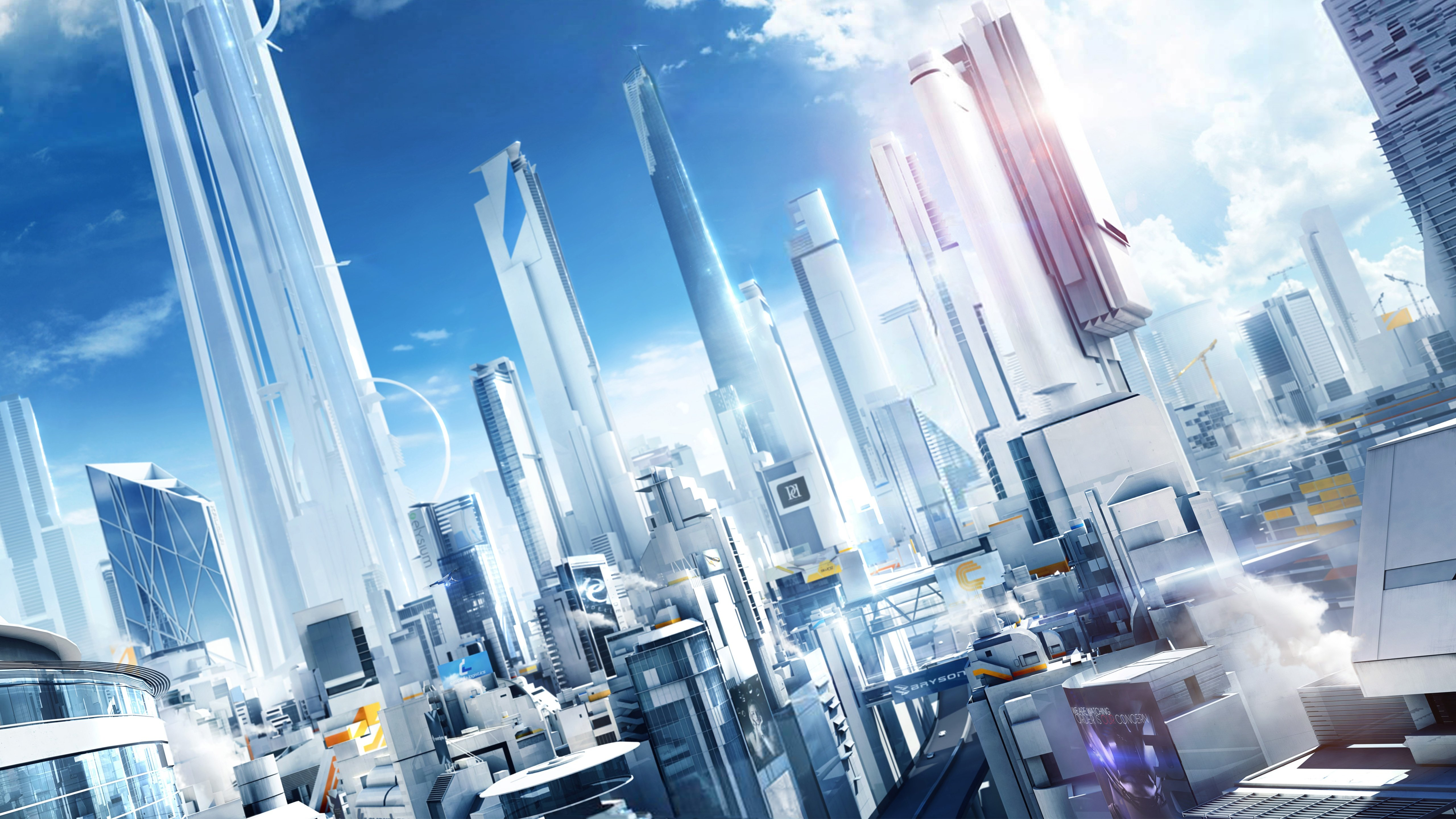 Mirrors Edge City of Glass Wallpapers HD Wallpapers 5120x2880
