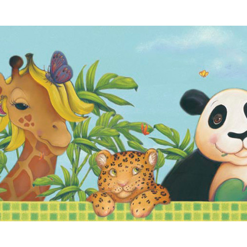 Jungle Style 12 x 6 Wildlife Border Wallpaper by 4 Walls 500x500