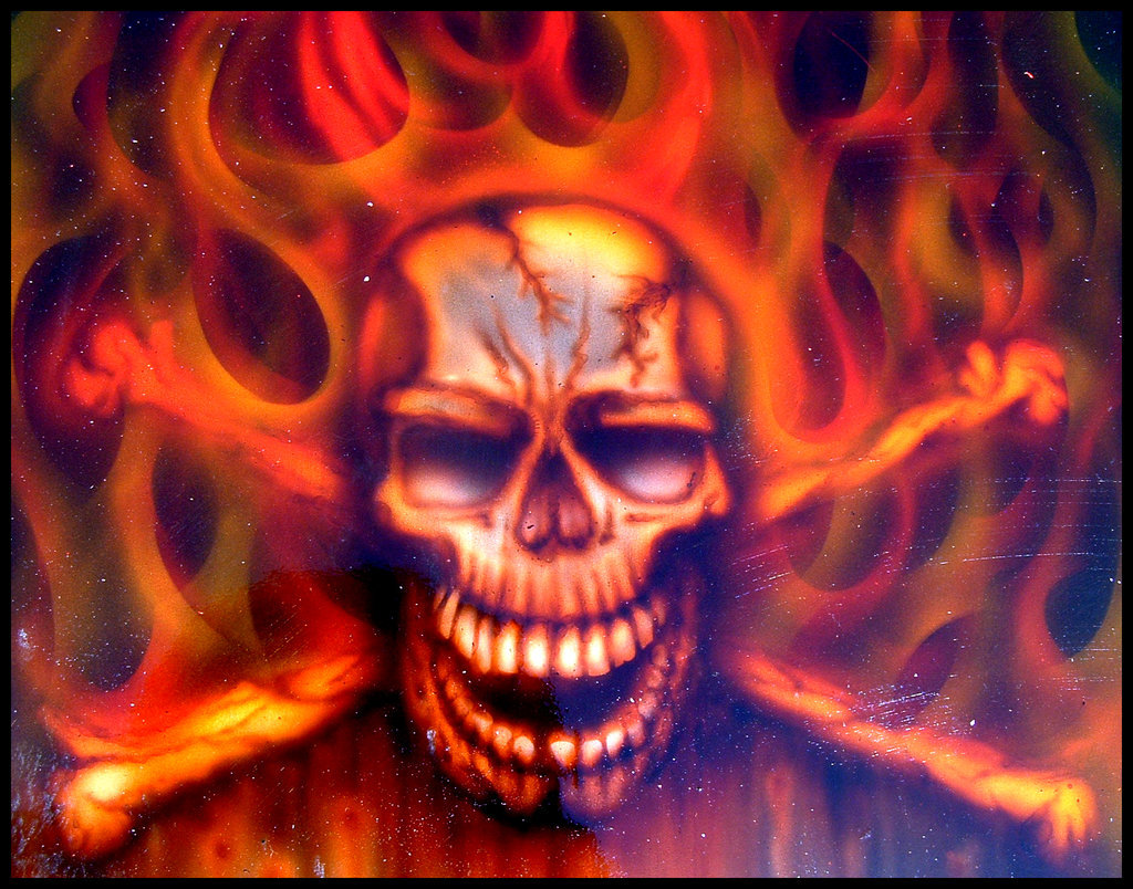 Skulls On Fire Wallpaper - WallpaperSafari