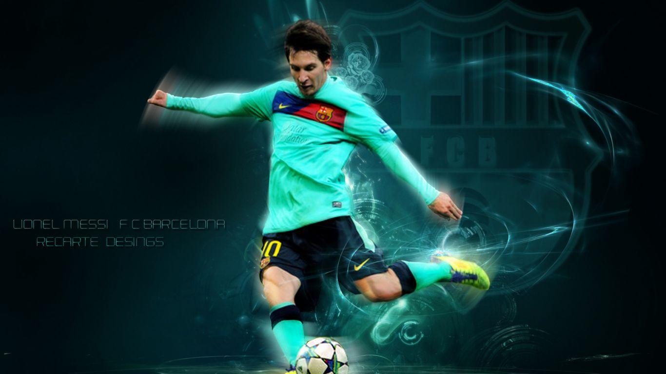 Fondo Lionel Messi La Pulga Barcelona iPad fondobook 1366x768