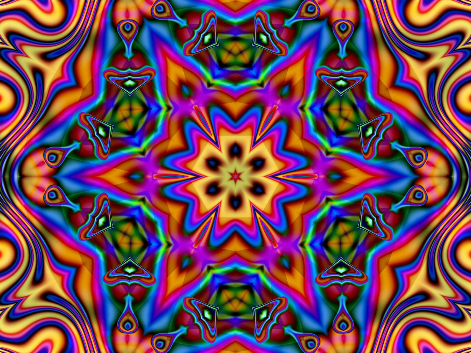 Hippie psychedelic wallpaper HD wallpaper background 1600x1200