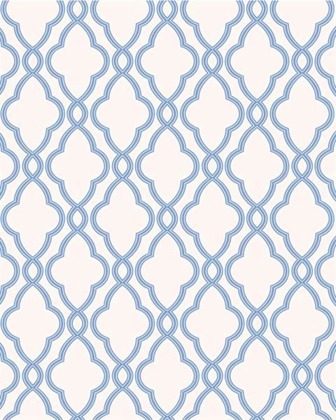 Waverly Blue Trellis Lattice on White Wallpaper WA7706 eBay 480x600