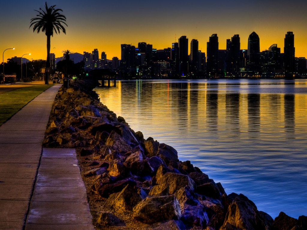 Free Download San Diego In The Morning Wallpapers 1024x768