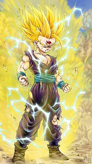 DragonBall Z Gohan Super Saiyan 2 Anime   iPhone Wallpaper 320x568