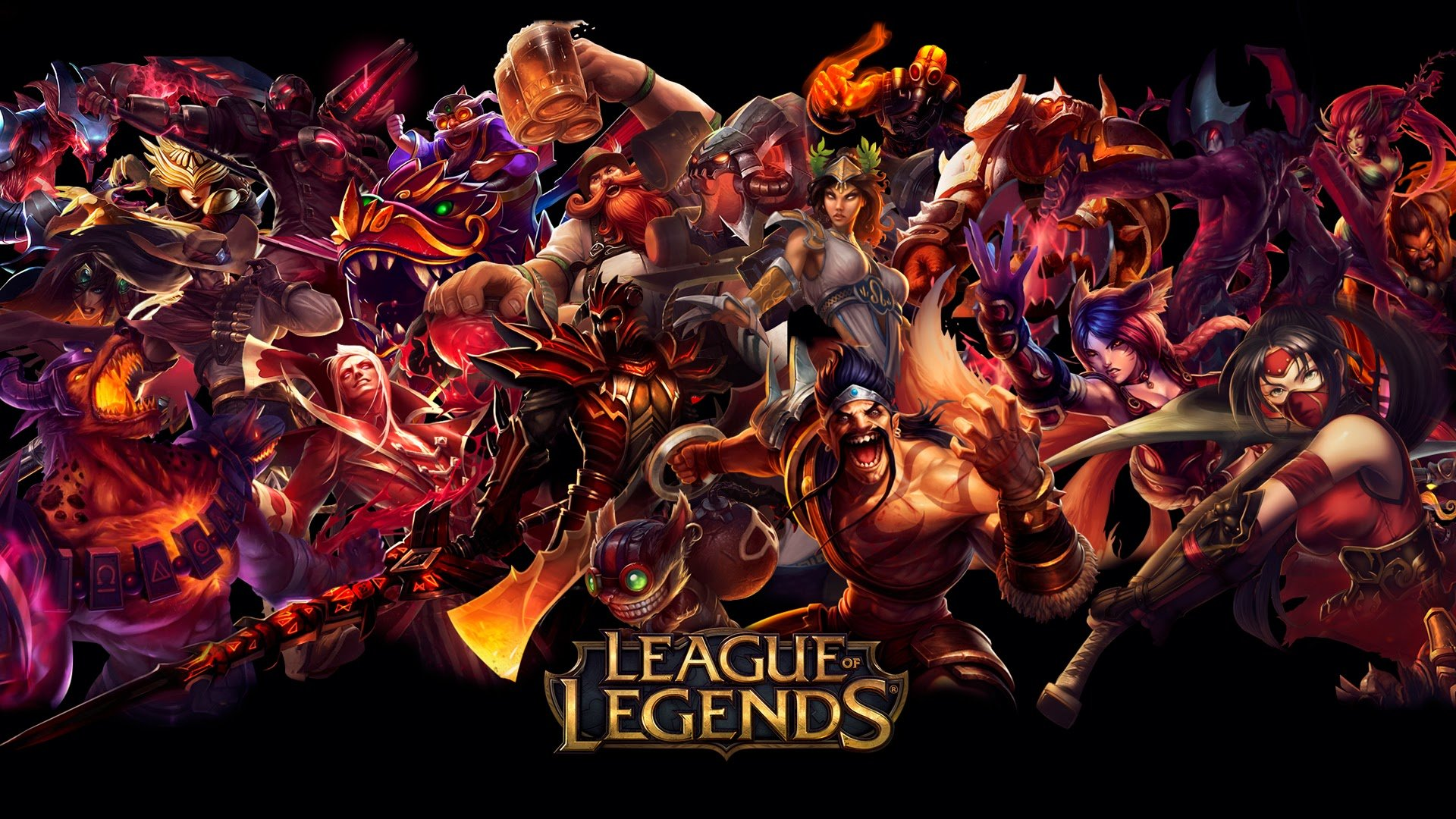 ... league of legends red hd wallpaper background lol champion 1920x1080