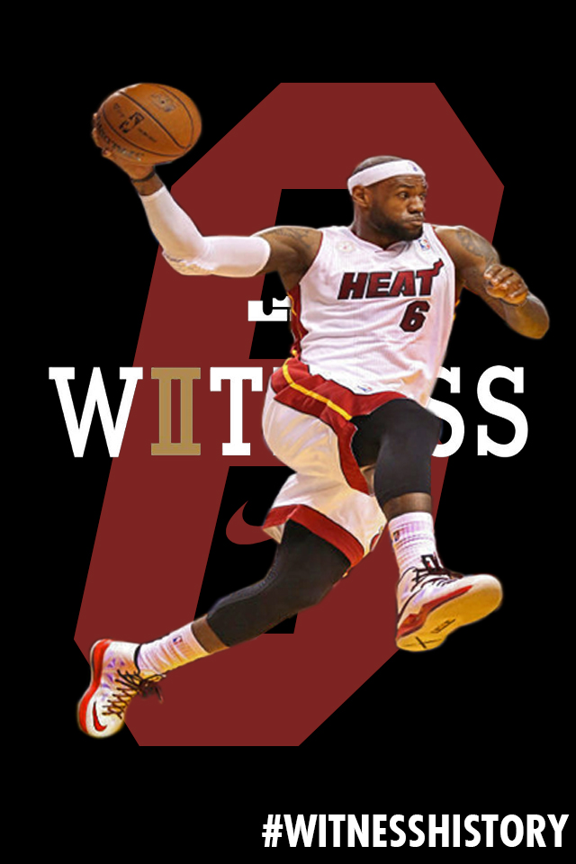 Lebron james witness history wallpaper by Cedierich 640x960