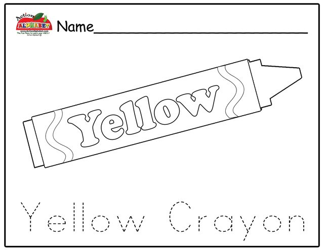 Free download Yellow Crayon Coloring Page HD Wallpapers on ...