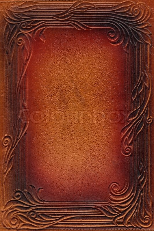 Tooled Leather Background Tooled vintage book cover 533x800