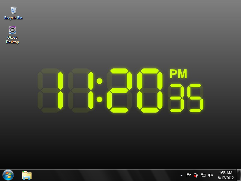 digits on this digital clock desktop wallpaper keeps the current time 800x600