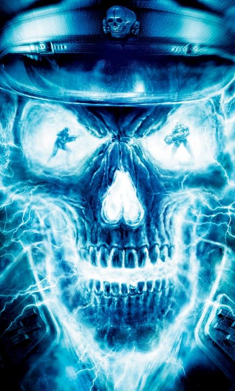 Wallpapers Backgrounds   Ghost Skull WallPapers 480x800