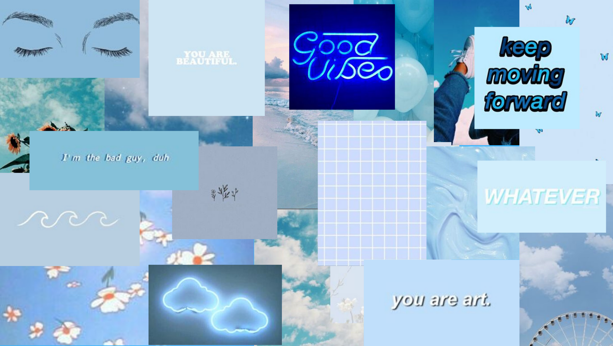 Aesthetic wallpaper laptop soft baby pastel blue in 2020 Cute 1998x1130