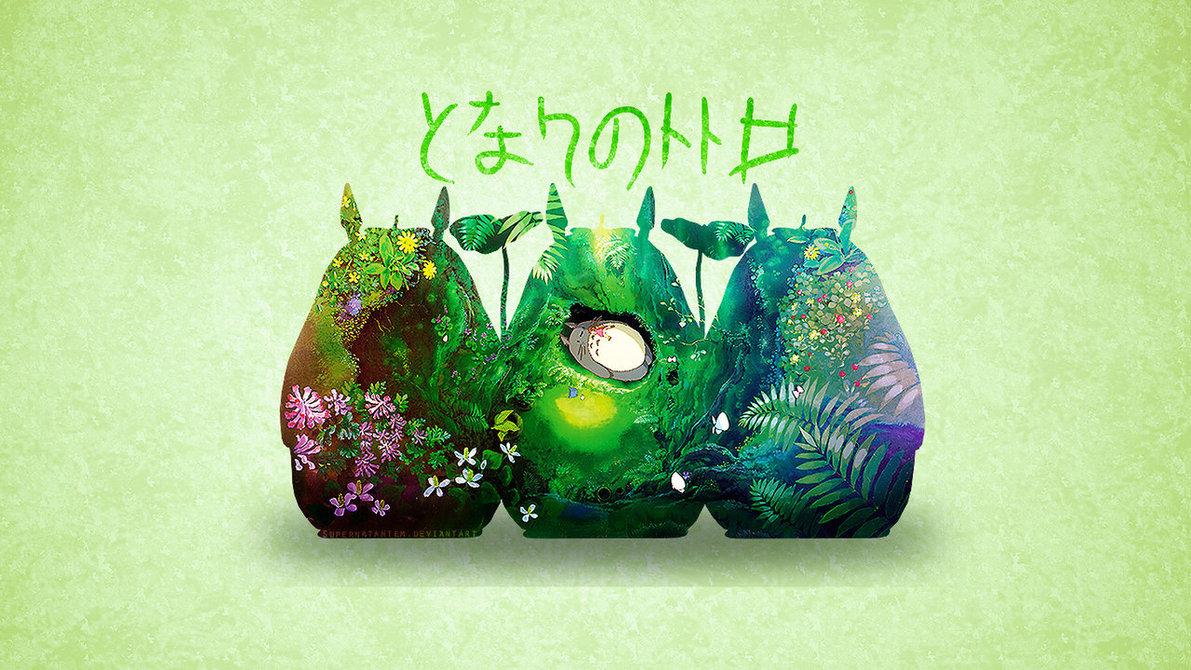 Free Download My Neighbour Totoro Wallpaper By Supernatantem
