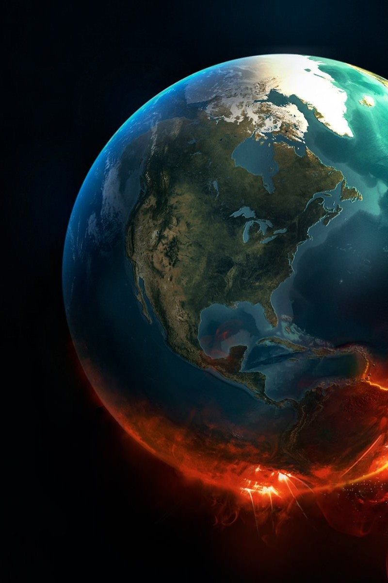 Earth Implosion Wallpaper for Amazon Kindle Fire HD 800x1200