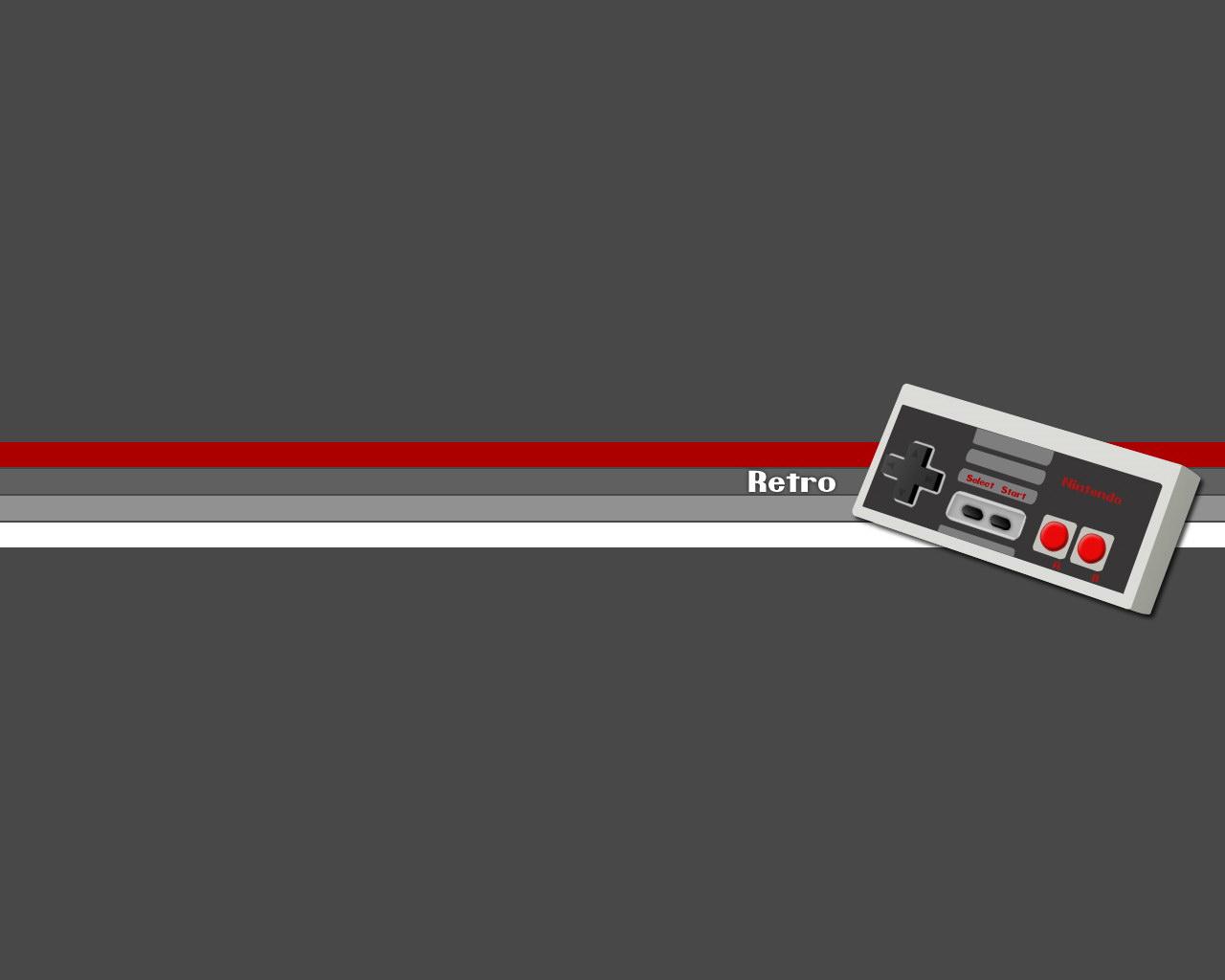 Old school Retro style console controller desktop wallpaper 1280x1024