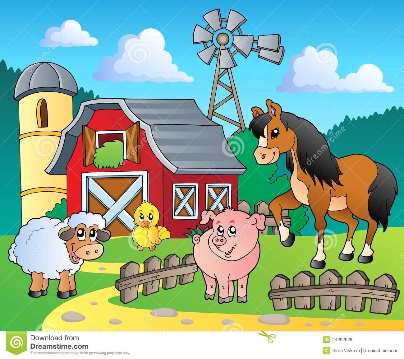 Go Back Images For Cartoon Farmyard 1300x1154