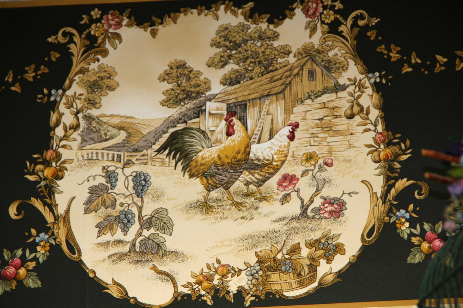 French Country Wallpaper Border