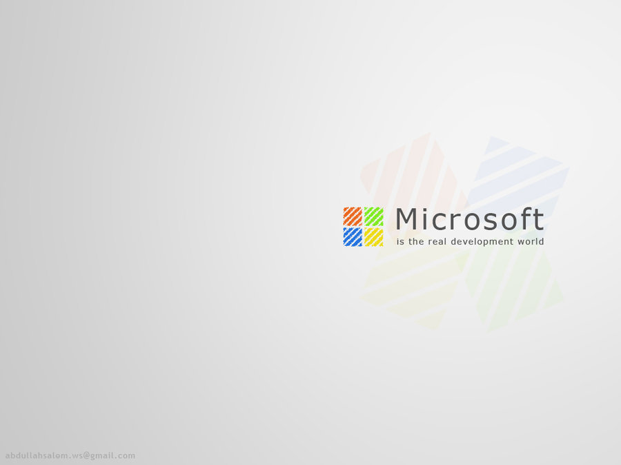 Microsoft development wallpaper by abdullahsalemART 900x675