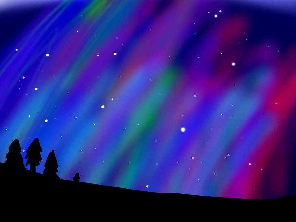 Northern Lights (background 3) by KairiXOX on DeviantArt